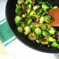 Turkey Sides: Pan Fried Brussels Sprouts w/ Bacon & Raisins