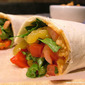 Spicy Vegetable Wraps with Nacho Hummus