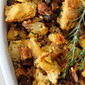 Artisan Cornbread Stuffing with Apples and Italian Sausage