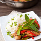 Thai Basil Pork Stir Fry {$500 Calphalon Gift Card Giveaway}