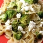 farfalle with broccoli and feta