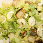 caesar salad with hard-boiled eggs
