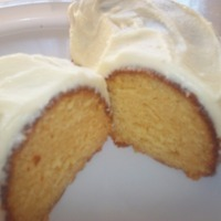 Honey Yogurt Cake with Buttercream Frosting (Cake Mix)