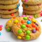 Eggless M&M Cookies