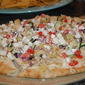 Mediterranean Hummus and Feta Appetizer Pizza