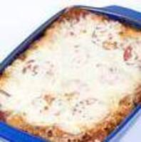 Sort of Italian Ground Beef and Three Cheese Casserole