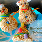 Holiday Food Craft ~ Rice Krispies Snowmen & Christmas Trees