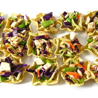 Skinny Chinese Chicken Salad Bites, 16 calories each! Recipe