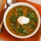 Spicy Butternut Squash Soup Recipe with Black Beans, Red Bell Pepper, and Cilantro