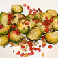 Roasted Brussels Sprouts with Walnuts & Pomegranate