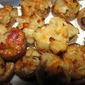 Pear and Parmesan Stuffed Mushrooms