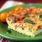 Recipe for egg and cheese breakfast casserole with smoked salmon and leeks