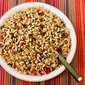 Red and Green Christmas Rice with Bell Peppers, Parmesan, and Pine Nuts (and Happy Holidays!)