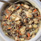 Creamy roast turkey wild rice soup