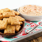 Beer Cheese Crackers with Beer Cheese Spread