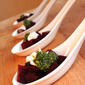 Beet salad with burrata and kale pesto