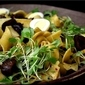 What's for dinner? Pappardelle Pasta with Candied Chestnuts and Quail Eggs