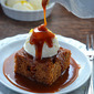 Gingerbread Cake with Caramel Sauce