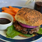 A Creative Take on an American Classic: Turkey Burgers with Blueberries, Ginger and Lemongrass served with Blueberry Ketchup