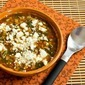 Slow Cooker Recipe for Vegetarian Greek Lentil Soup with Tomatoes, Spinach, and Feta