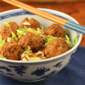 Recipe for teriyaki turkey meatballs with cabbage and ramen noodles