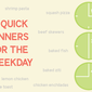 Ten Quick Dinners for the Weekday