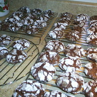 chocolate CRACKLE cookies CHUCKLES