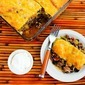 Spicy Green Chile Mexican Casserole Recipe with Ground Beef, Black Beans, and Tomatoes