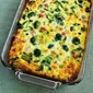 Recipe for Broccoli, Ham, and Mozzarella Baked with Eggs