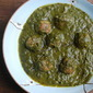 Turkey Kofta in a spinach curry