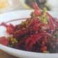 Beet, Walnut and cilantro puree Salad