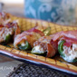 Bacon Wrapped Italian Sausage Stuffed Jalapeno Poppers