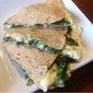 Spinach, Artichoke, and Feta Quesadillas