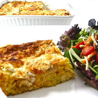 Skinny Mexican Style Chicken and Cornbread Casserole