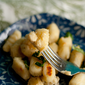 "No-Egg Gnocchi with Roasted Garlic Cashew Nut ""Cheese"" {Vegan}"