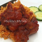 Nasi Tomato Puri -Ayam Masak Merah Madu/Tomato Purée Pilau with Red Honeyed Chicken