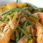 Stringbeans and Squash with Shrimp in Coconut milk