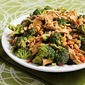 Chicken, Broccoli, and Red Bell Pepper Salad Recipe with Peanut Butter Dressing
