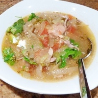 Slow cooker pork stew - chile verde