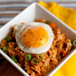 "Tofu ""Bulgogi"" and Kimchi Fried Rice {vegetarian}"