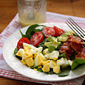 Recipe for spinach salad with honey mustard vinaigrette