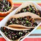 Recipe for Ground Turkey Green Chile Soft Tacos with Black Bean Cilantro Salsa