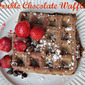 Double Chocolate Waffles---Quick Breakfast for your Valentine