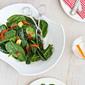 Warm Bourbon Spinach Salad Recipe with Bacon & Avocado