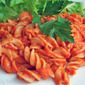 Brown Rice Pasta in Roasted Red Pepper Sauce