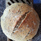 Homemade oatmeal bread with flax seeds