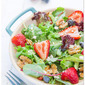 Baby Greens with Strawberry Dressing