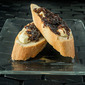 Balsamic Caramelized Onion and Goat Cheese Crostini