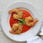Almond Crusted Shrimp with Roasted Red Pepper Sauce