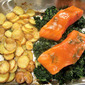 What's for Dinner? Mustard & Brown Sugar Glazed Salmon w/ Dill